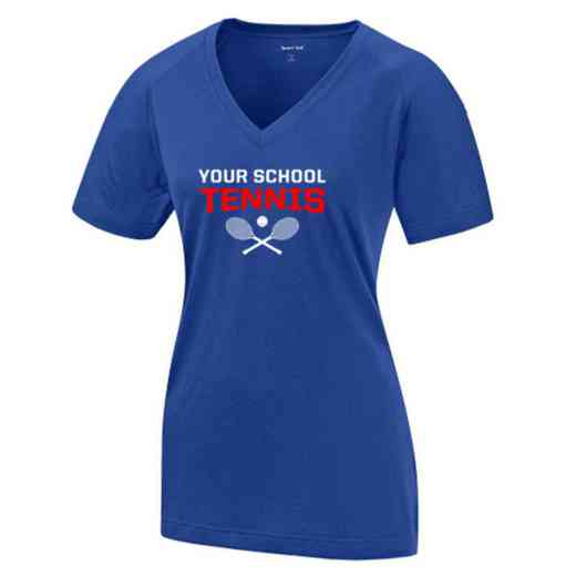 Tennis Womens Ultimate Performance V-Neck T-shirt